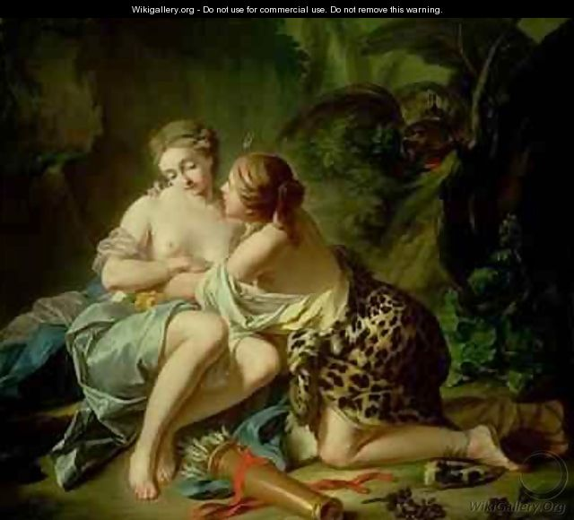 Jupiter and Callisto - Jean-Simon Berthélemy