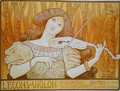 Reproduction of a poster advertising 'Violin Lessons', Rue Denfert-Rochereau, Paris - Paul Berthon