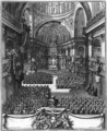 Funeral of Marie-Louise d'Orleans (1662-89) Queen of Spain, at the church St. Paul St. Louis, Paris - Jean II (the Younger) Berain