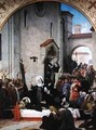 St. Clare Receiving the Body of St. Francis of Assisi - Francois Leon Benouville