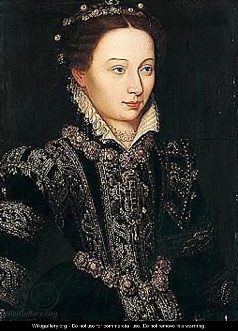 Portrait of a lady, possibly Elizabeth of Valois, later Consort of Pphilip II of Spain (1545-1568) - French School