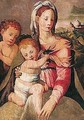 The madonna and child with the infant Saint John the Baptist - (after) (Jacopo Carucci) Pontormo