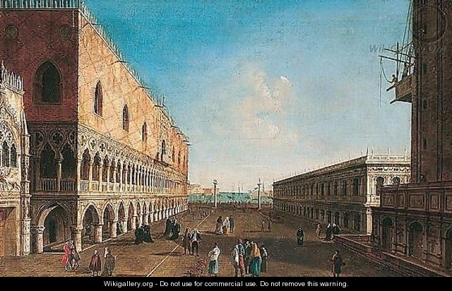 Venice, a view of the piazzetta looking south - (after) Michele Marieschi