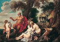 Pan and the young Achilles - (after) Jacob Jordaens