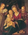 The madonna and child with an angel, Saint Catherine, Saint Elizabeth and Saint John the baptist - (after) Peter (Peter Candid) Witte