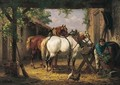 De Paarden Voeden (Feeding The Horses) - Willem Jacobus Boogaard