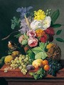 Bloemstilleven Met Distelvink (Still Life With Flowers And Bird) - Anthony Obermann