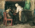 Warming By The Fire - Robert Gemmell Hutchison