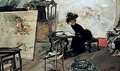 A Woman In An Atelier - Emilio Sala Frances