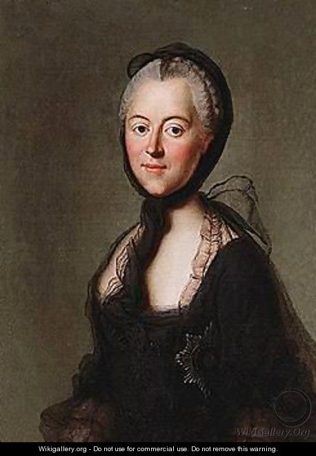 Portrait of catherine the great in mourning - russian school