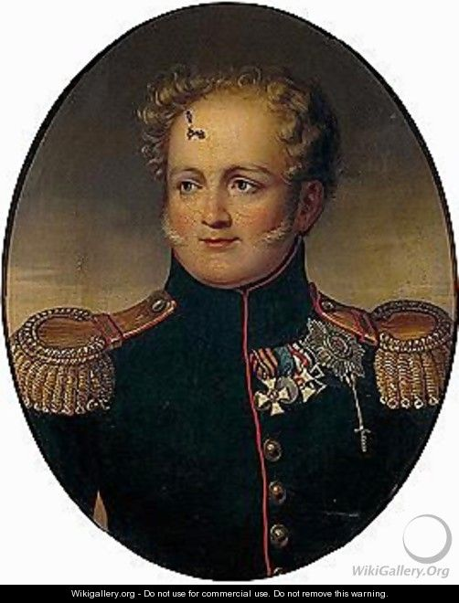 Portrait of Emperor Alexander I - Russian School