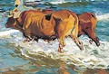 Bueyes En El Mar (Oxen In The Sea) - Joaquin Sorolla y Bastida