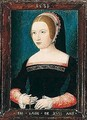 Portrait Of A Young Woman Holding A Chain - Unknown Painter