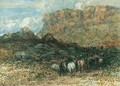 Herdsman In A Mountain Pass, North Wales - David Cox