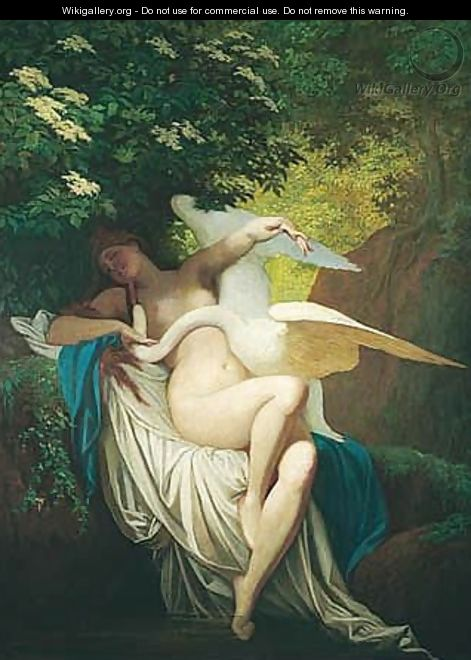 Leda And The Swan - Bertalan Szekely
