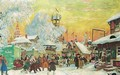 The village fair 2 - Boris Kustodiev