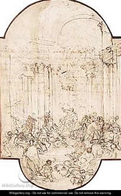 Christ Chasing The Money-lenders From The Temple - Giovanni Paolo Pannini