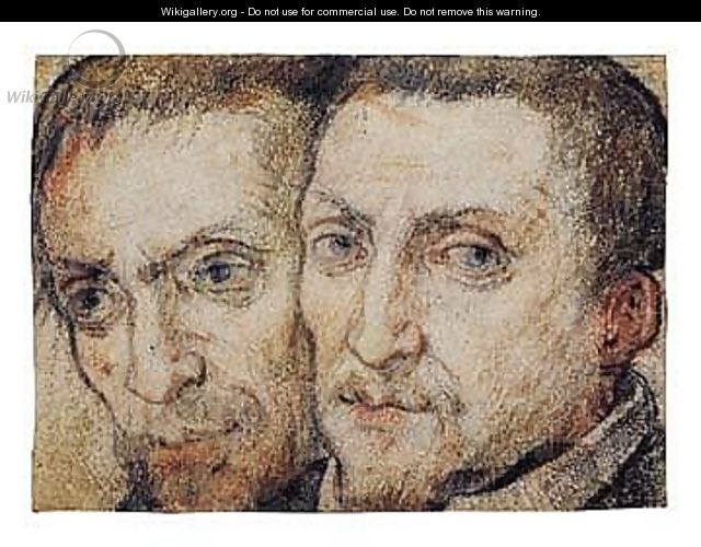 Study Of Two Heads - Federico Zuccaro