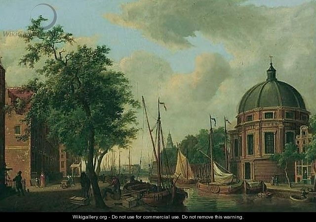 Amsterdam, A View Of The New Round Lutheran Church On The Singel, From The Canal - Cornelis De Kruijff