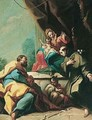 A 'Sacra conversazione' with Saint Anthony of Padua kneeling before the madonna and child - (after) Giambattista Pittoni