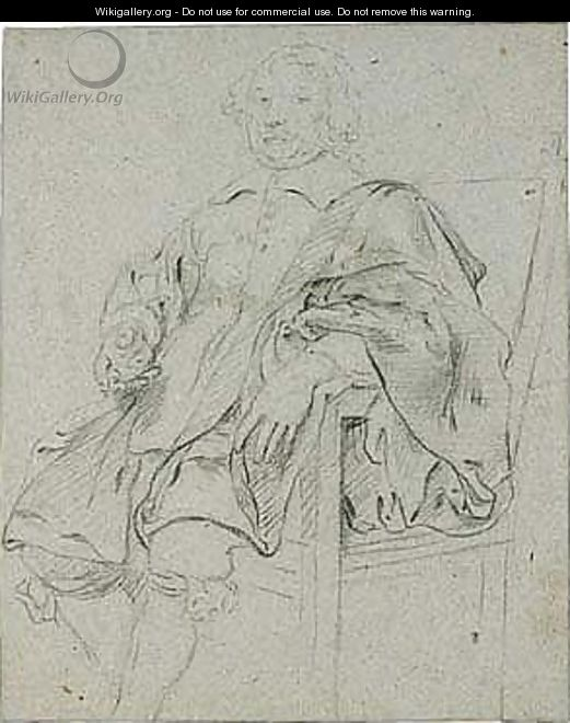 Study for a portrait of a seated gentleman - Flemish School