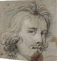 Study of a male head - (after) Sir Peter Paul Rubens