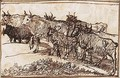 Cattle Ascending A Track Towards The Left - Claude Lorrain (Gellee)