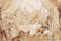 The banquet of Anthony and Cleopatra - (after) Giovanni Battista Tiepolo