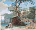 Classical Landscape With A Tomb - Jean-Pierr Houel