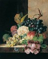 Still Life With Fruit, Flowers And Butterfly - Edward Ladell