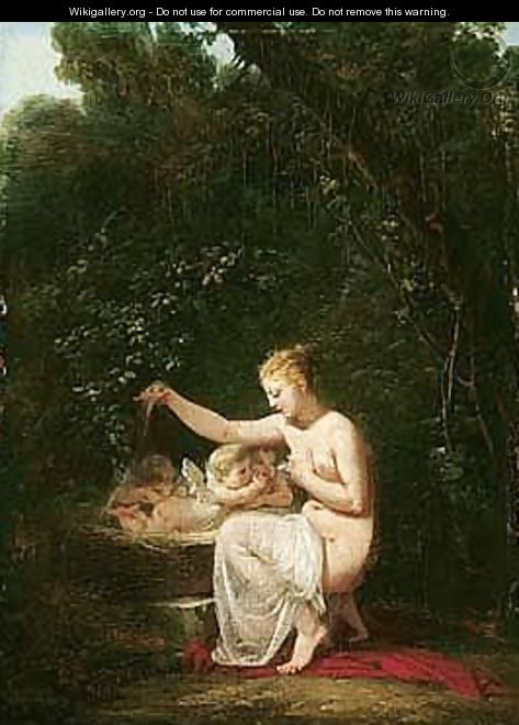 The Birth Of Cupid - Jacques-Antoine Vallin