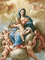 The Madonna And Child Attended By Putti In The Heavens - Nicola Vaccaro