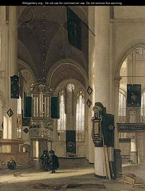 Interior Of A Dutch Protestant Church - Emanuel de Witte
