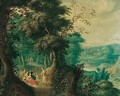 A Wooded Landscape With Diana And Her Nymphs - Jasper van der Laanen