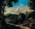 An Italianate Landscape With The Prodigal Son Tending Swine - Pietro Paolo Bonzi