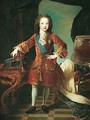 A Portrait Of The Young Louis Xv Of France (1710-1774), Full Length, Standing In A Sumptuous Interior - Pierre Gobert