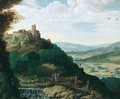 An extensive landscape with Christ on the road to Emmaus - (after) Paul Bril