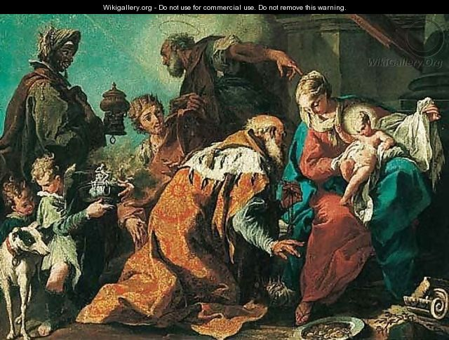 The Adoration Of The Magi - (after) Giambattista Pittoni