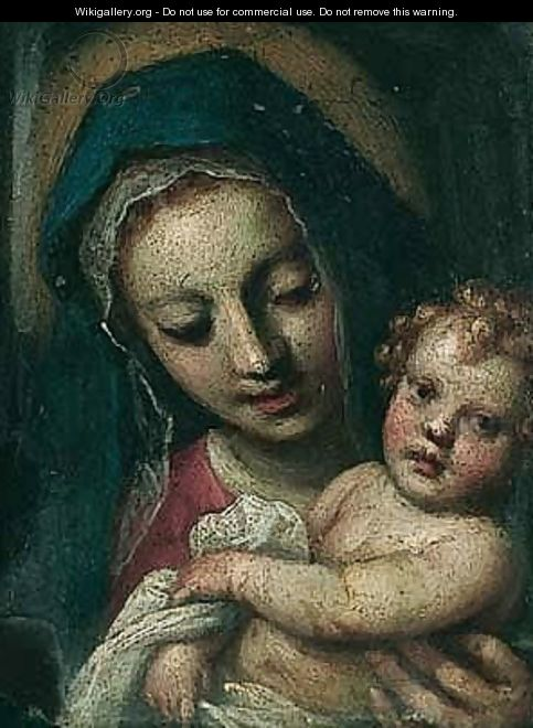 The Madonna And Child - Jacopo d