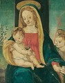 The madonna and child with the infant saint john the baptist - (after) Raffaellino Del Garbo