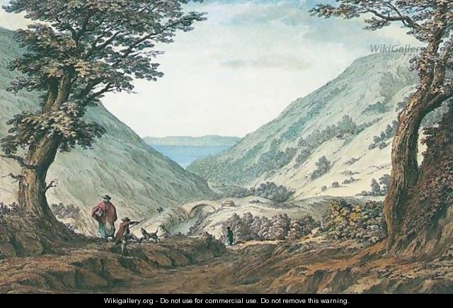 The Valley Of Llanabar, Carnarvonshire, With Part Of The Island Of Anglesea - Samuel Hieronymous Grimm