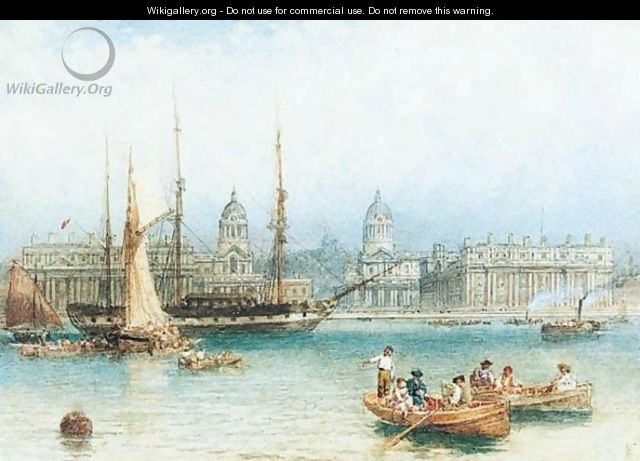 The Thames At Greenwich - Myles Birket Foster