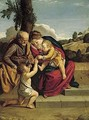 The Holy Family With The Infant Saint John The Baptist In A Landscape - Orazio Gentileschi