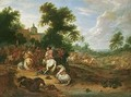 A Landscape With A Cavalry Skirmish - Adam Frans van der Meulen