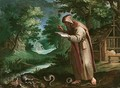 Saint Didymus in a landscape - (after) Maarten De Vos