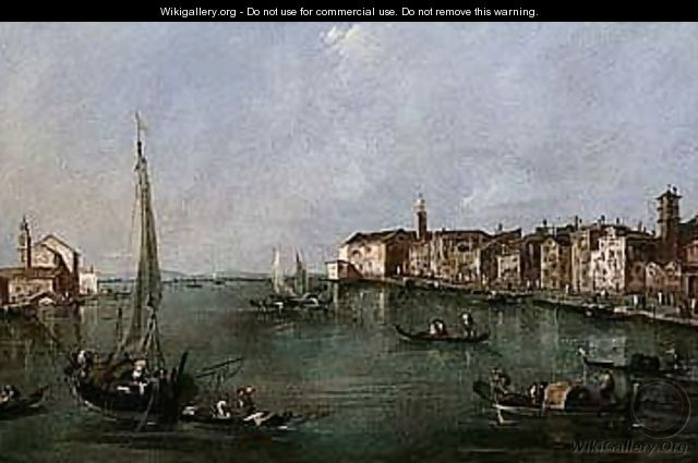 Venice, A View Of The Zattere At The Punta Di Santa Marta, And The Giudecca With The Church Of San Biagio - Francesco Guardi
