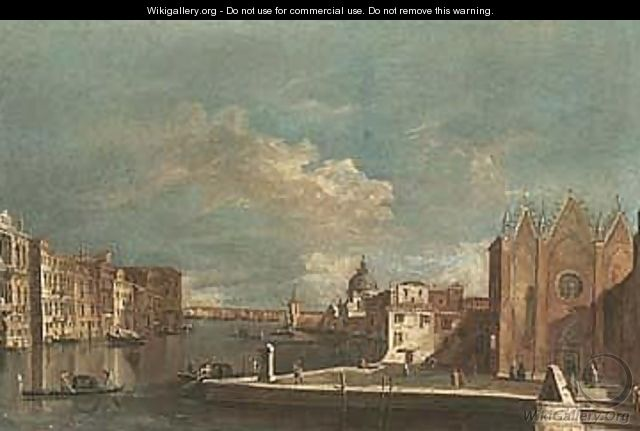 Venice, a view of the Grand Canal 4 - Venetian School