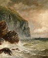 Seascape with Cliff - J. H. Blunt