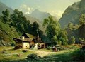 Blacksmith's House in a Valley - Theodor Blatterbauer
