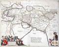 Map of the travels of Alexander the Great - Willem and Joan Blaeu